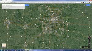 Satellite Map Of Usa by Kansas City Missouri Map
