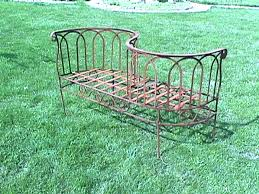 Courting Bench For Sale Wrought Iron Old World Strap Courting Bench