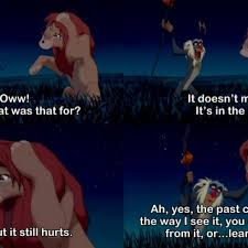 Rafiki Meme - rafiki teaches simba you can either run from the past or learn from
