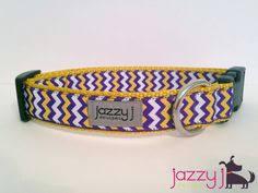 dog collar mardi gras chevron lsu dog collar large and matching leash by kadyspetcouture on etsy