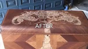 decorative stain on cedar chest by custom kate