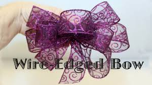 ribbon with wire wire edged ribbon bow
