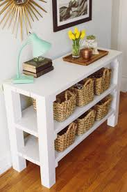 How To Build A Cheap End Table by 8 Gorgeous Entryway Tables You Can Make On A Budget