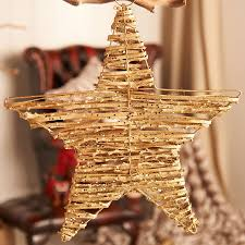 gold sparkly twig hanging star home party wedding venue decoration