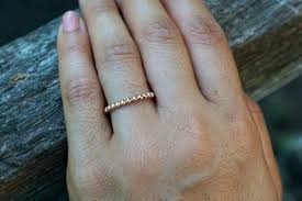stackable engagement rings 14kt gold 2mm bead rope stackable engagement wedding