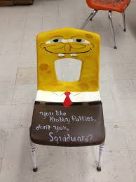 Spongebob Krabby Patty Meme - someone painted this and left it in the art bulding spongebob