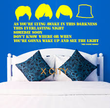 aliexpress com buy the stone roses lyrics large wall art quote aliexpress com buy the stone roses lyrics large wall art quote bedroom sticker decal removable vinyl transfer stencil mural home room decor from reliable
