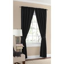 Curtains Home Decor Mainstays Microfiber Curtain Panel With Tieback Walmart Com