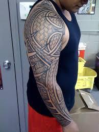 14 beautiful full sleeve tribal tattoos only tribal