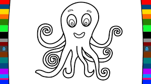 sea animals coloring pages how to draw a octopus drawing and
