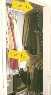 Shallow Closet Organizer - closet storage ideas small closet organization apartment therapy