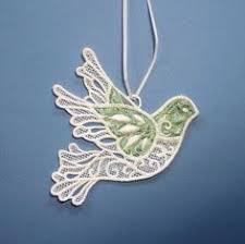 handmade white dove ornament from nepal the market