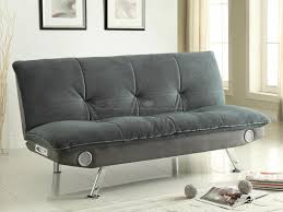 coaster 500046 gray champion bluetooth pillow top sofa bed futon