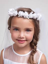 communion veil communion veils and headpieces white floral wreath