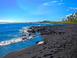 beaches with black sand punalu u0027u black sand beach campground outdoor project