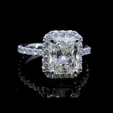 radiant cut halo engagement rings 1 50 tcw halo radiant cut engagement ring rad139 4 990 00
