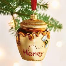 honey pot glass ornament sur la table