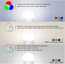 warm blue color rgbw bulb remote control smart light 5w rgb 5w warm white colorful