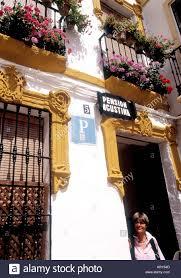 spain cordoba small hotel at cordoba stock photo royalty free