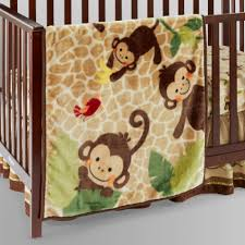 Lambs And Ivy Bedding For Cribs by Lambs U0026 Ivy Tickles Hi Pile Swinging Monkey Blanket