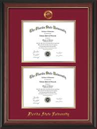 fsu diploma frame fsu diploma frame r gold lp w fsu seal dbl diploma garnet