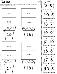 ice cream math scoops addition and subtraction up to 20 summer