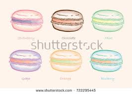 macaron isolated white background stock vector 96616042 shutterstock