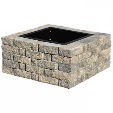 Square Fire Pit Kit by Inspiring Pavestone Splitrock 385 In W X 175 In H Square Fire Pit