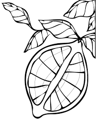 lemon coloring page 6070