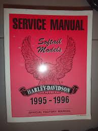 service manual softail models harley davidson 1995 1996 official