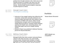 Personal Trainer Resume Sample by Stength Coach Resume Reentrycorps