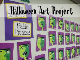 halloween art project picasso u0027s frankenstein squarehead teachers