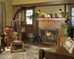 Arts And Crafts Living Room Ideas - nice fireplace mantel arts u0026 crafts craftsman bungalow home