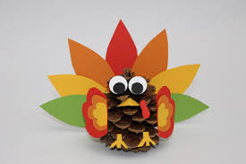thanksgiving craft to do with pinecone turkey parents