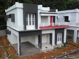 low budget contemporary style villa project in angamaly ernakulam