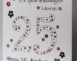 25th birthday card etsy