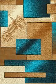 Aqua Area Rug 5x8 Turquoise Modern Square Design Contemporary Area Rugs 5x8 8x11
