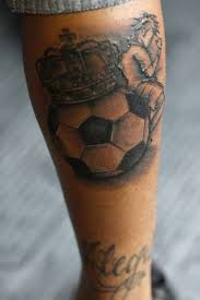 realistic football tattoo design idea tattoobite com