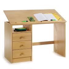 bureau enfant en pin bureau enfant écolier junior kevin pupitre inclinable avec 3