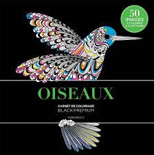 Livre Black Premium Oiseaux Collectif Marabout Loisirs créatifs