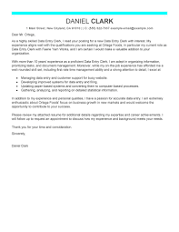 Cover Letter For Applying For A Job by Best Data Entry Clerk Cover Letter Examples Livecareer