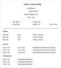 musical theatre resume exles musical theatre resume template the general format and tips for
