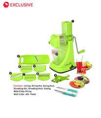 magikware super kitchen combo juicer slicer cutter set of 9