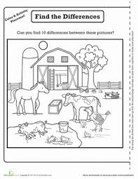 farm animals worksheets for kindergarten learning farm animals