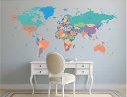World Map Decal by