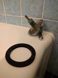 Bathtub Overflow Drain Gasket Plumbing Sealing What Appears To Be A Non Standard Overflow