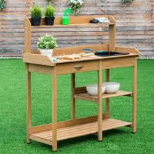 outdoor garden workstation potting bench