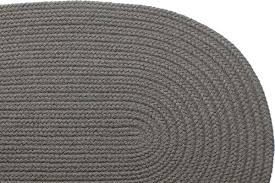 Braided Doormat Solid Gray Braided Rug
