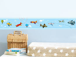 Kids Room Borders by Wall Decals Boys Kids Planes Airplane Vinyl Wall Border Sticker