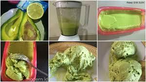 membuat es krim yang sederhana cara membuat es krim alpukat super praktis cukup 4 bahan saja